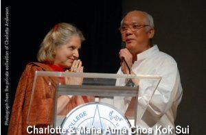 Charlotte and Maha Atma Choa Kok Sui
